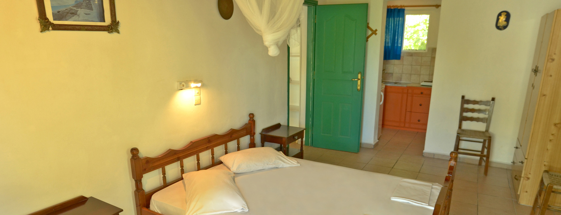 Budget Studio at Lemonia Accommodations with one double or two single beds.
