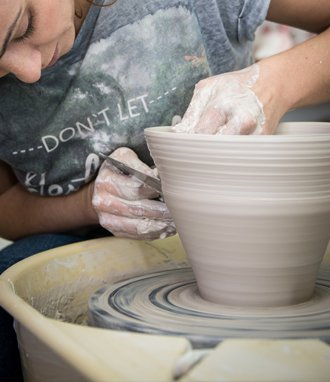 Pottery creation at pottery workshop by Andriani.