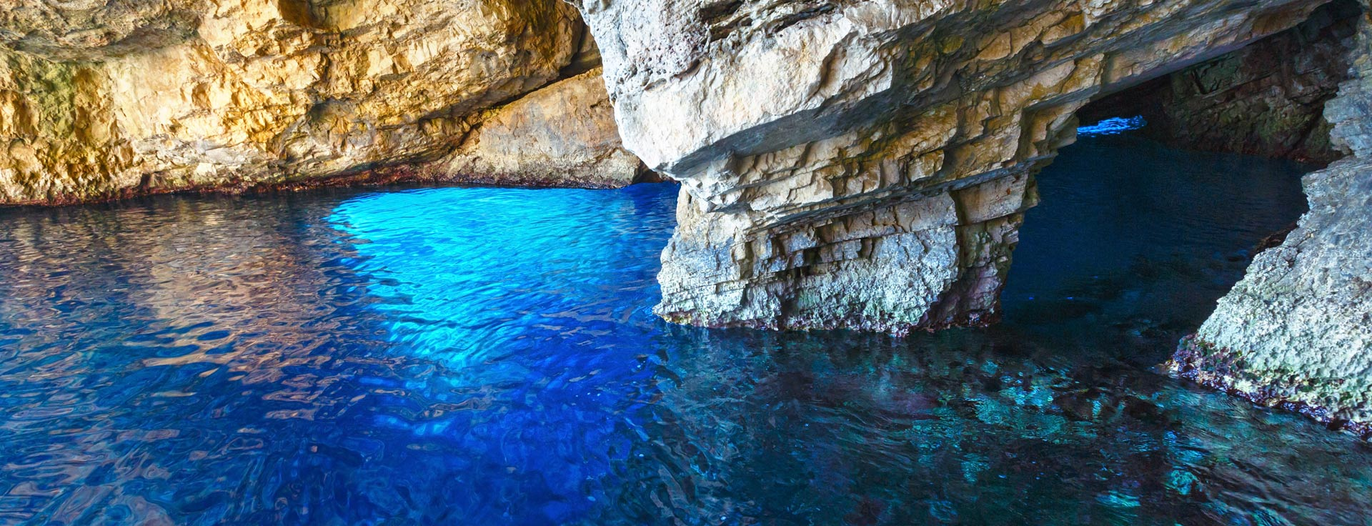 Blue Caves Beach in Zakynthos.