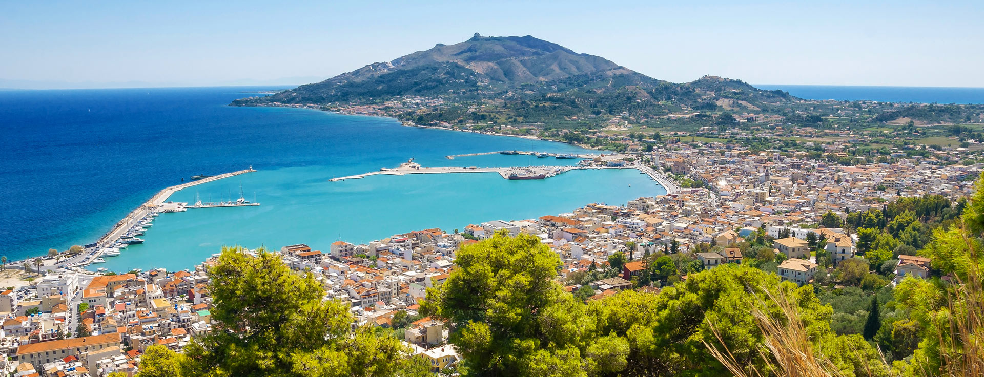 Panoramic View of Zakynthos town